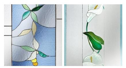 Vetri decorati per porte vendita online vetri artistici for Vetrate artistiche per porte interne